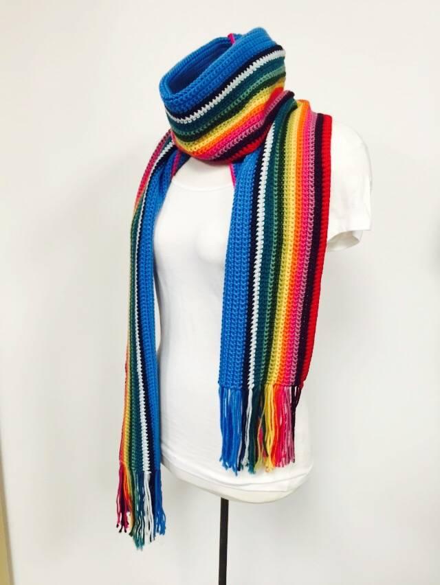 13th Doctor Who Scarf Crochet Version Spun Fibre Arts
