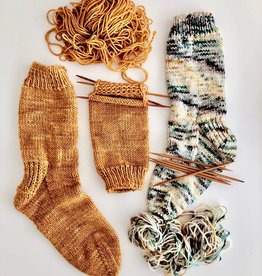 Class Learn to Knit Top Down Socks