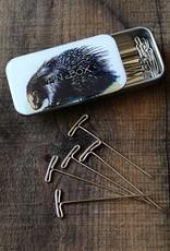 NNK Porcupine T-pins Tin