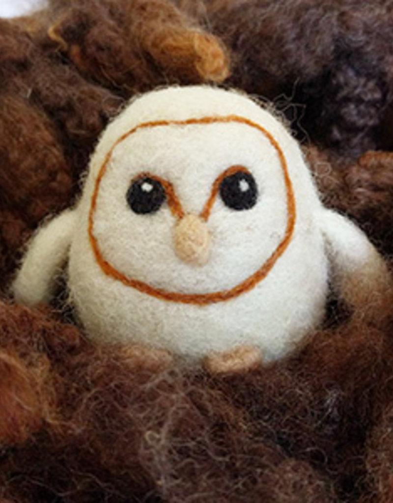 Class Needle Felting Barn Owl