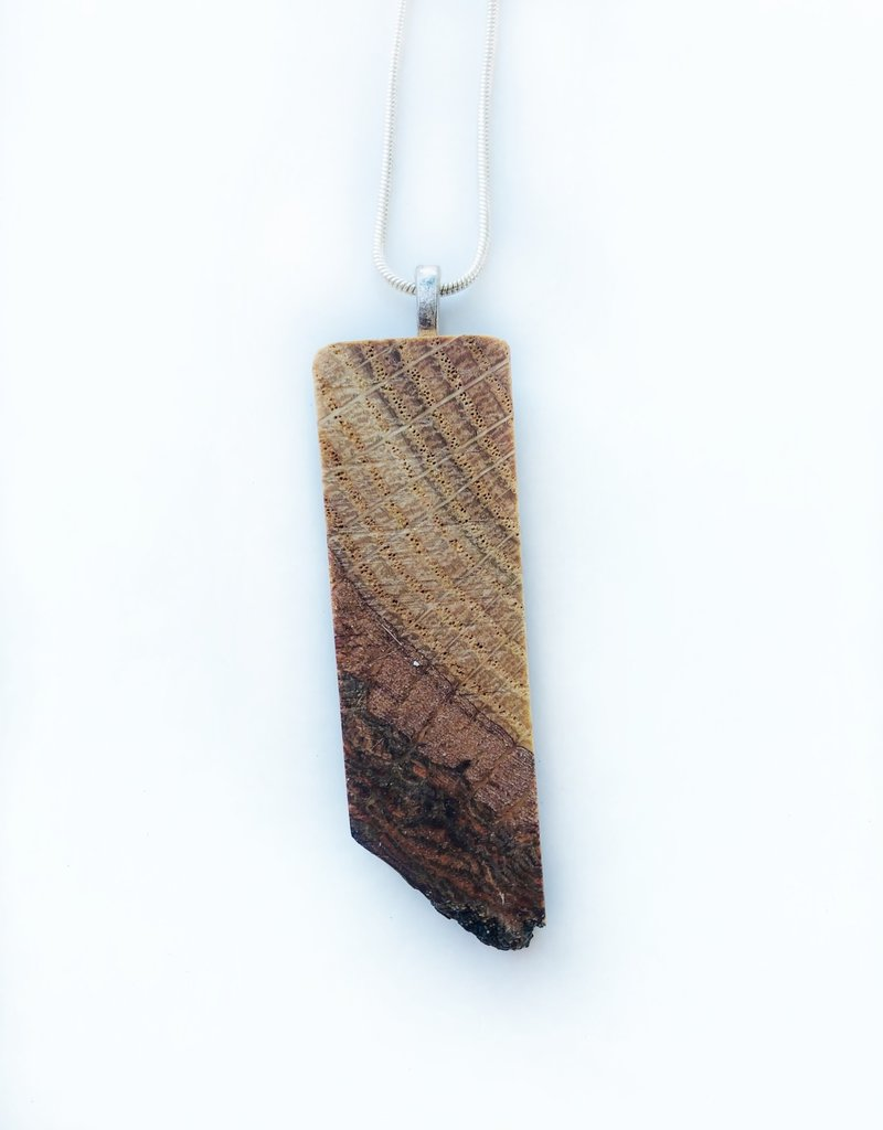 The Living North Wood Pendant Necklace