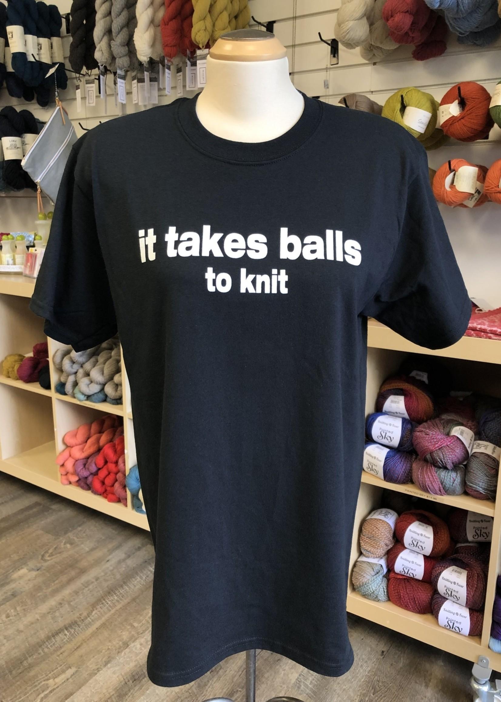 Spun Fibre It Takes Balls to Knit T-Shirt