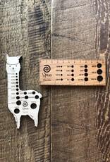 Spun Fibre Spun llama needle gauge