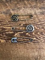 Seco Knopf Spun Metal Shawl Pin