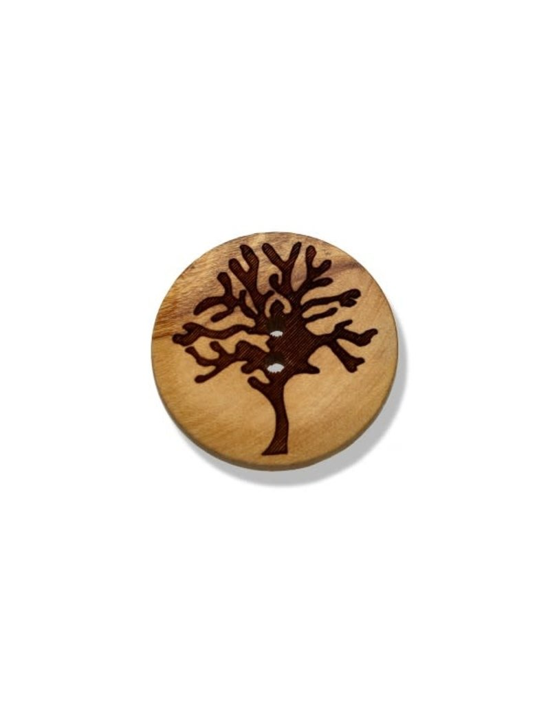 Seco Knopf Wood Trees Buttons 25 mm