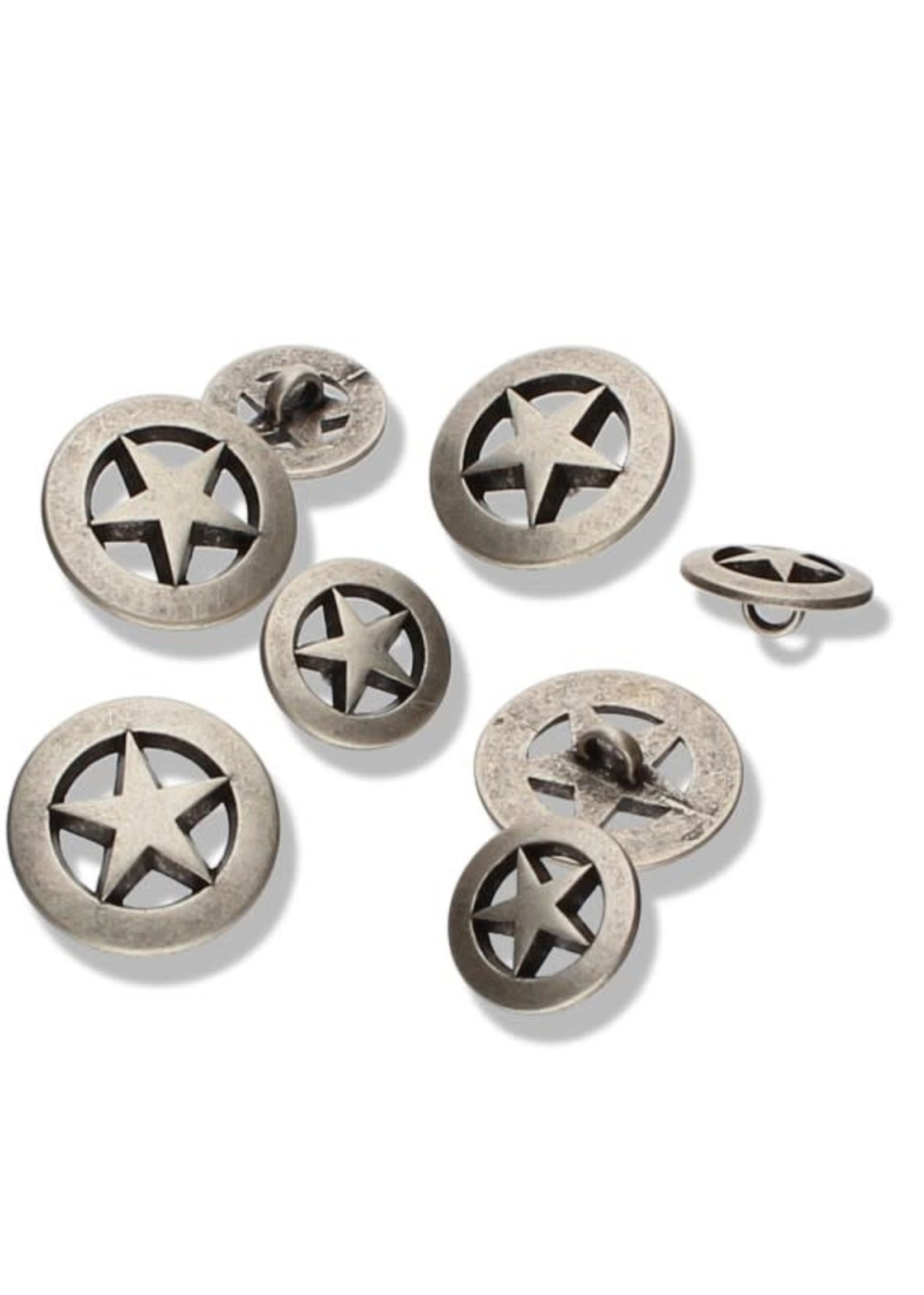 Seco Knopf Captain America Stars Buttons 15 mm
