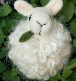 Class Needle Felting Sheep Puff