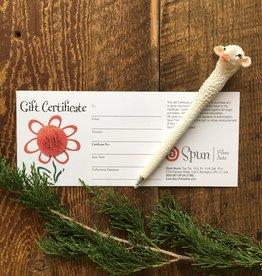 Spun Fibre Gift Certificates