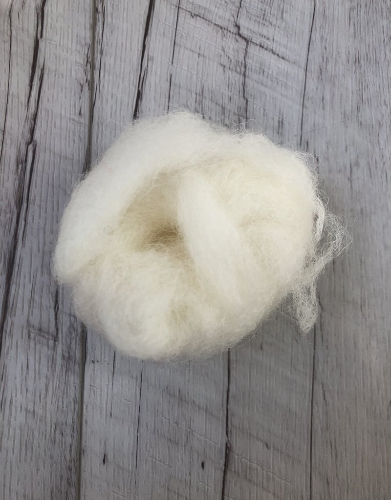 Briggs & Little 100% raw wool, cleaned and carded $/GRAM