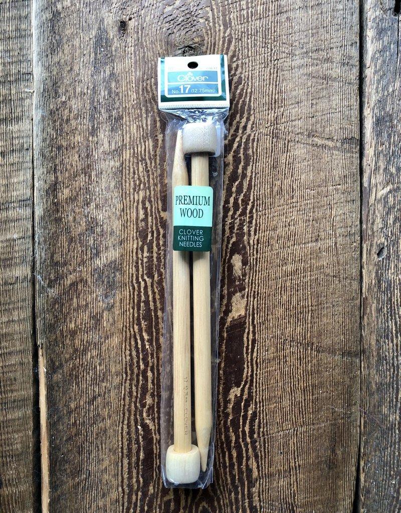 Clover 12.75 mm Premium Wood Knitting Needles