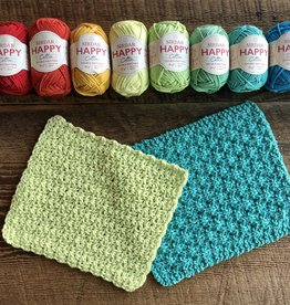 Spun Fibre Happy Cotton Washcloth Kit