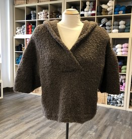 Brown Boucle Sweater