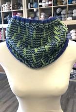 Blue/Green Cowl (Superwash Wool)