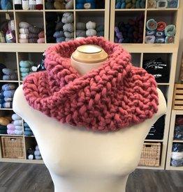 Pink Twisted Cowl (Sugar Bush)