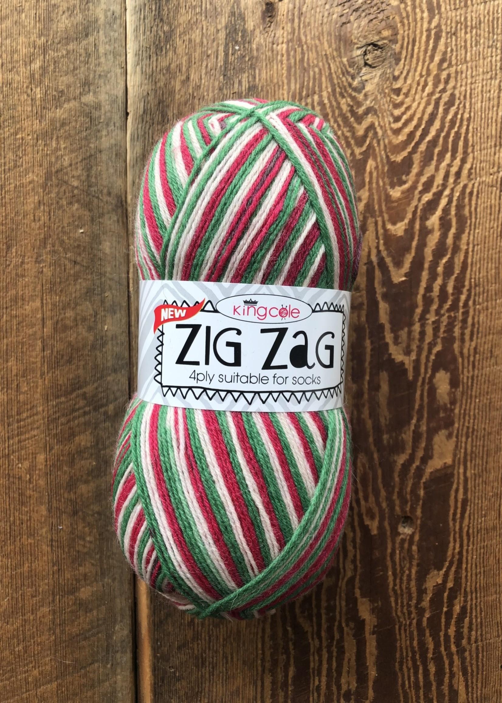 King Kole Zig Zag Sock Christmas #3408
