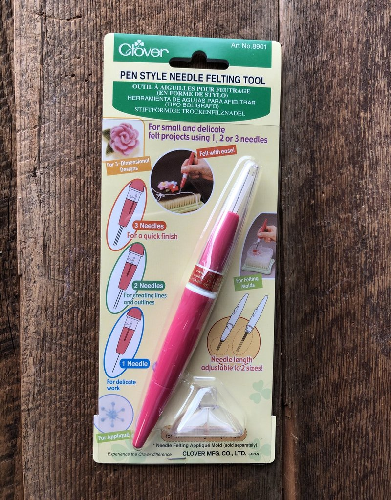 Clover Pen Style Needle Felting Tool - 1, 2, or 3 needles, 40 gauge (fine) included