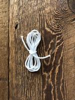 Katia White Elastic Cord sold by metre