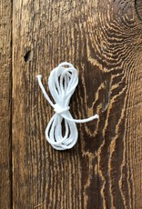 Katia White Elastic Cord sold by metre