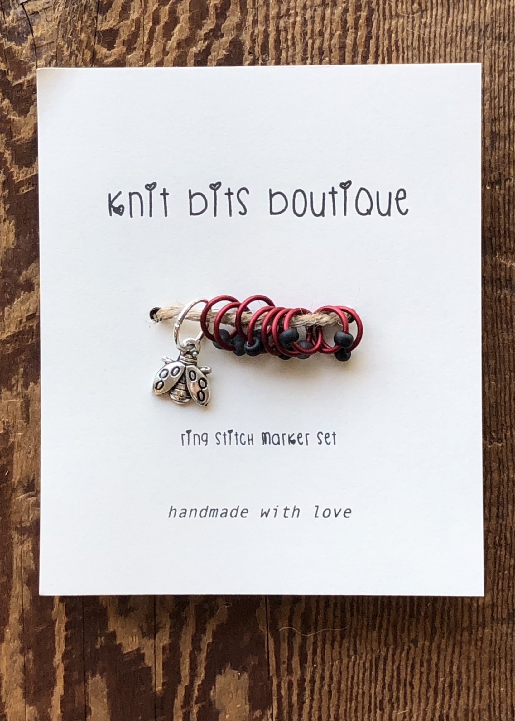 Knit Bits Boutique Round Stitch Markers (6mm)