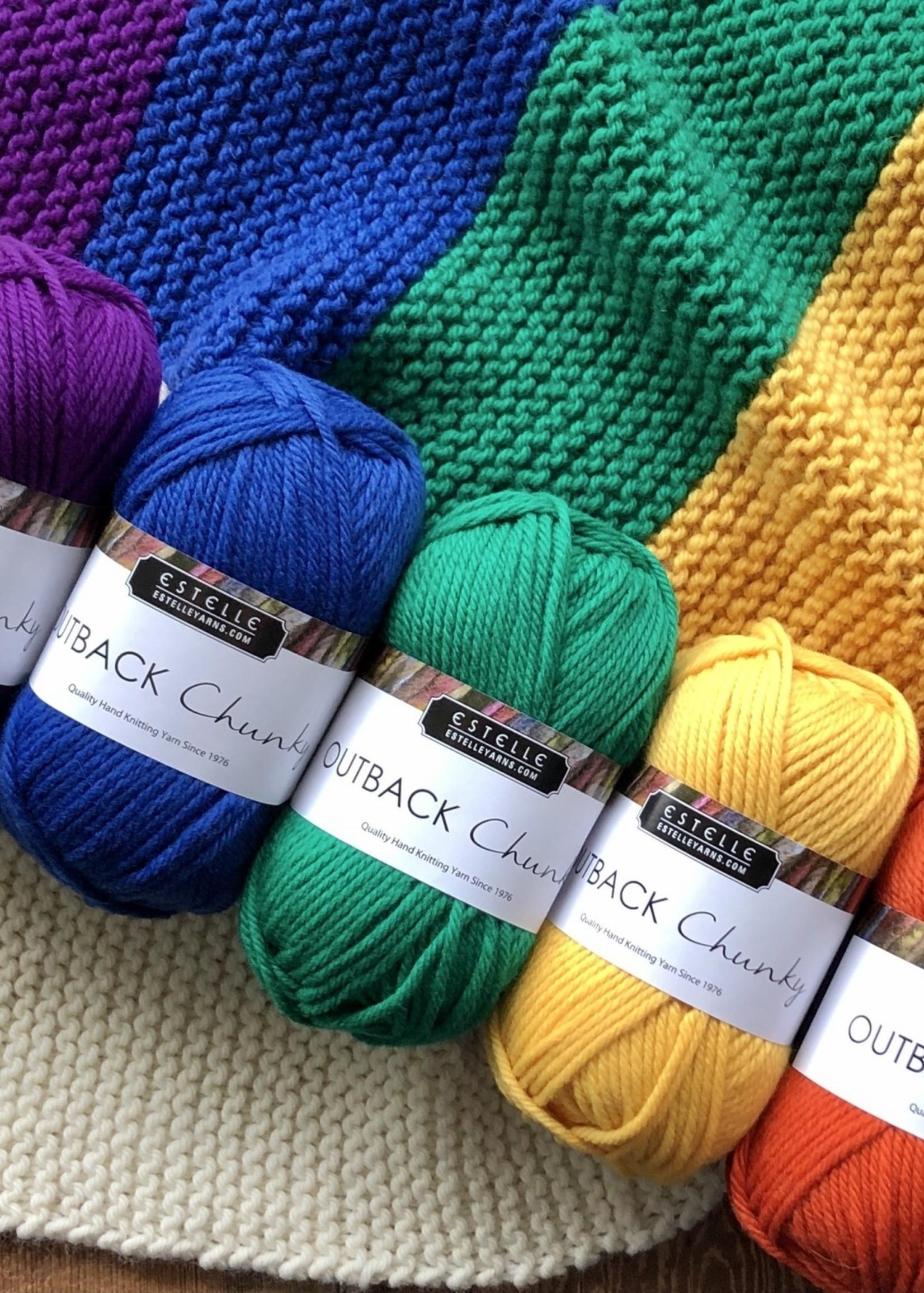 Wonder Twin Fibrearts Chunky Rainbow Blanket Kit
