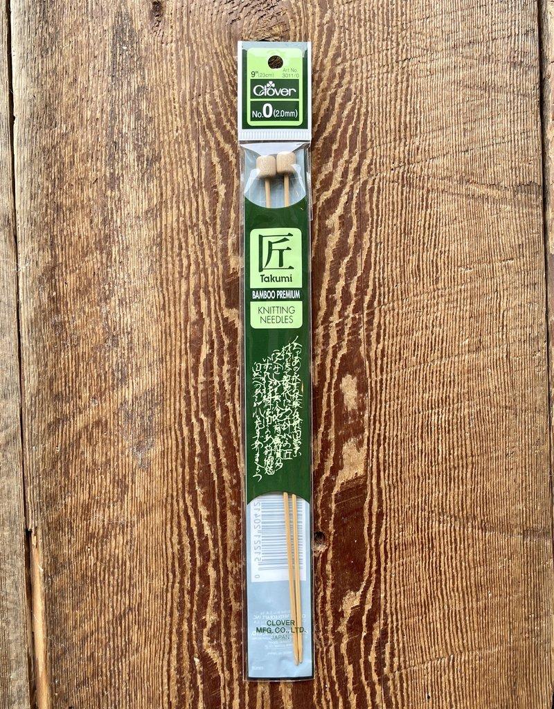 Clover Takumi 2.0mm needles