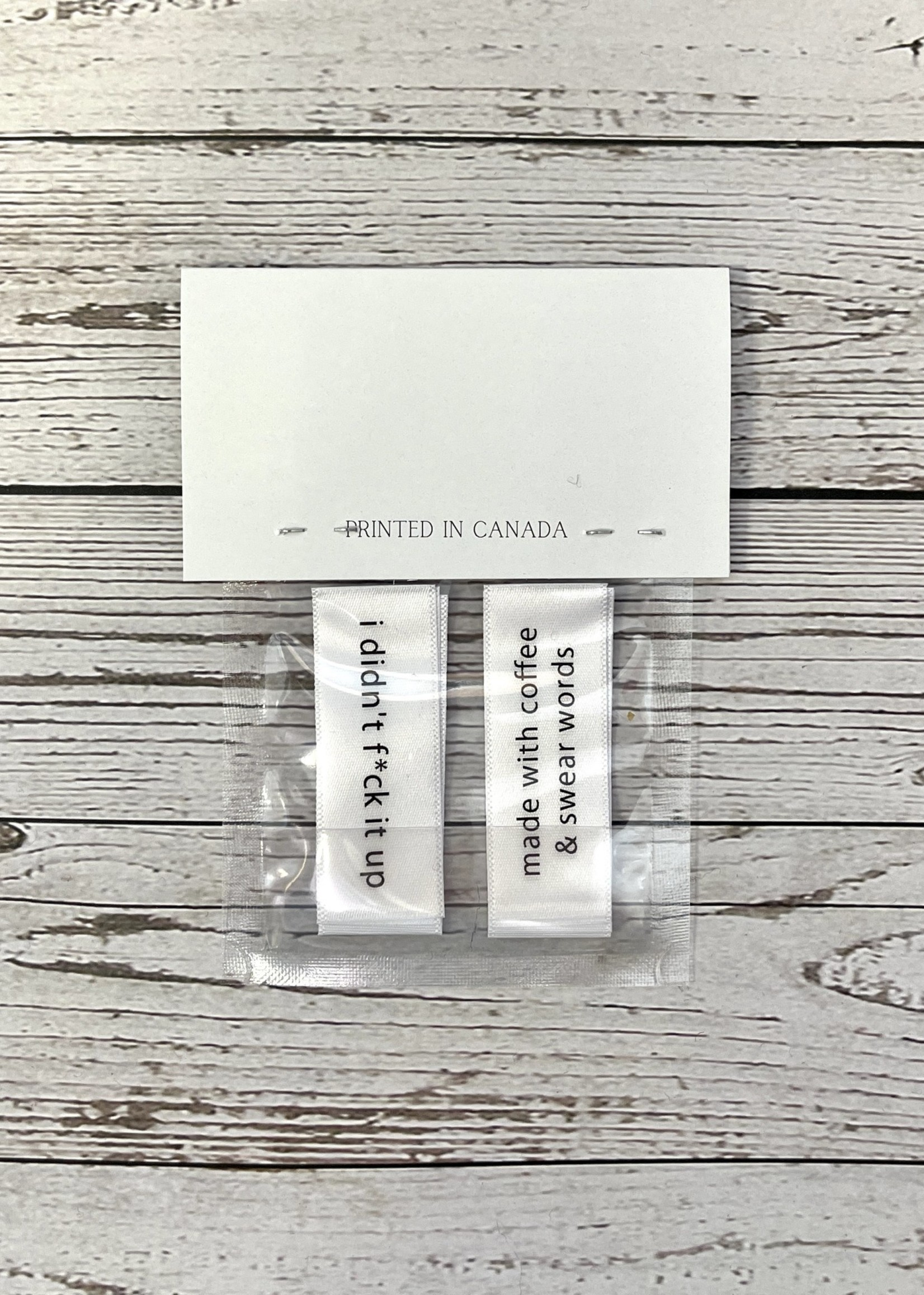Wonder Twin Fibrearts Handmade Labels for your sh*t