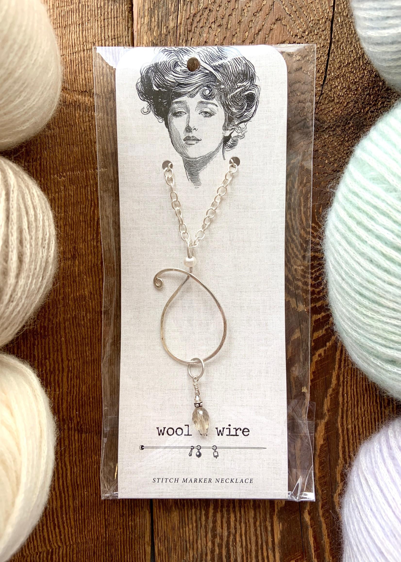 Wool & Wire Wool & Wire:  Teardrop Necklace
