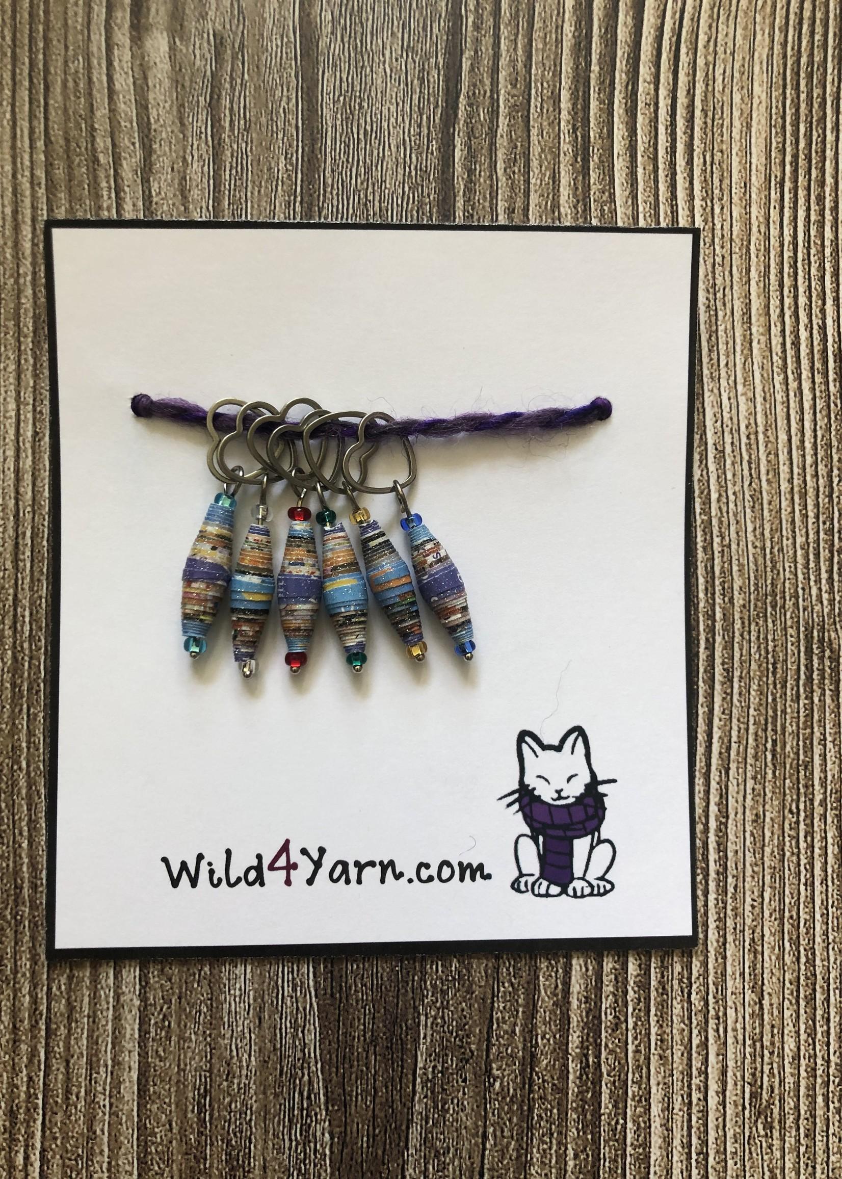 Wild4Yarn Paper Bead Stitch Markers