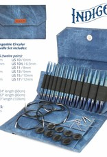 "Lykke Set-Regular IC, 12 tips (3.5mm-12mm, regular 5"" length) and 5 cables (24"", 32"", 40"") , Indigo, colour"