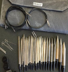 """Lykke Set-Regular IC, 12 tips (3.5mm-12mm, regular 5"""" length) and 5 cables (24"""", 32"""", 40"""") , Driftwood, colour"""