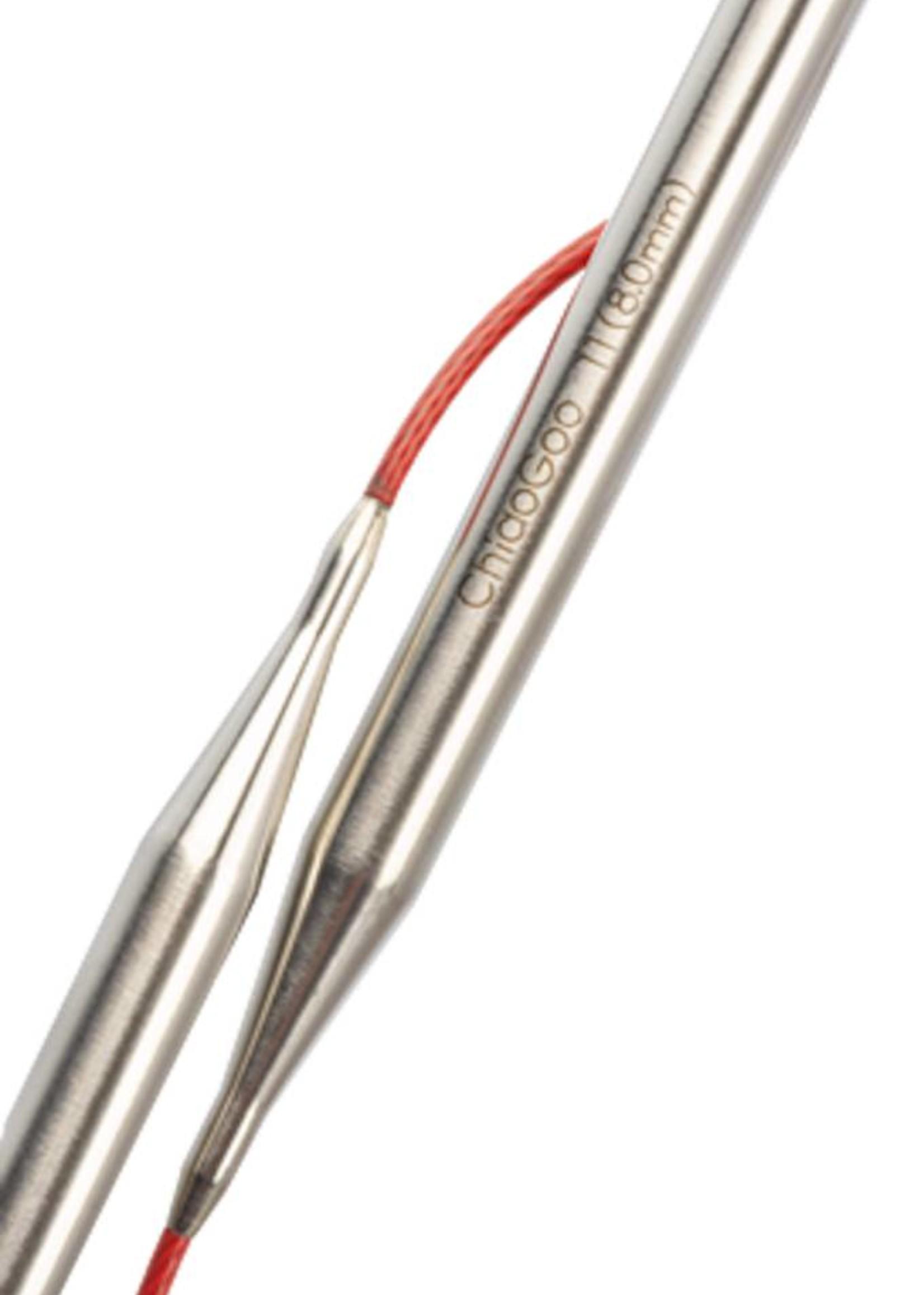 ChiaoGoo Chiao Goo Red Stainless Steel Fixed Circular