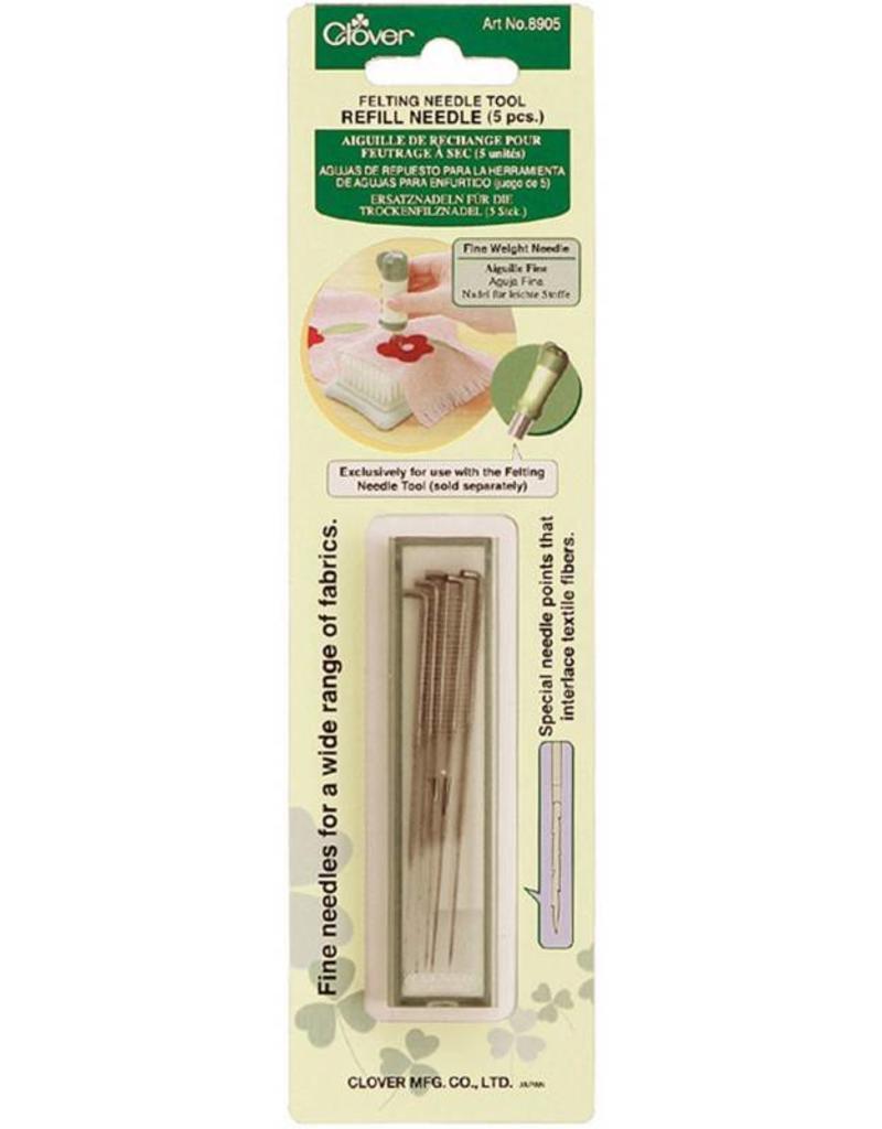 Clover Needle Felt Refill, Fine, 5 in package