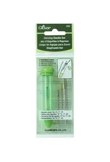 Clover Darning Needle Set - 3 metal needles in assorted size with case