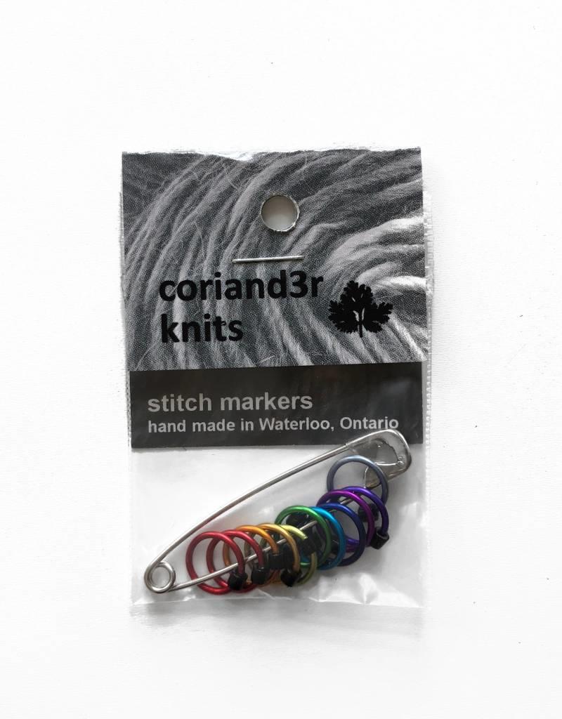 Coriand3r Knits Rainbow Stitch Markers