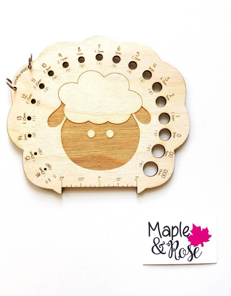 Maple & Rose Maple & Rose Sheep Needle Gauge - Birch