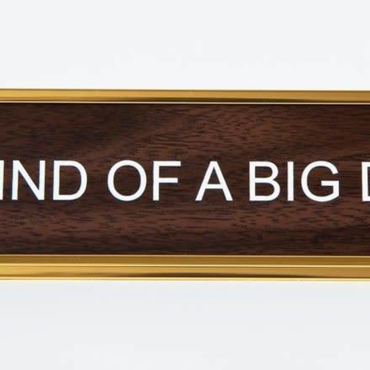 He Said, She Said I'm Kind of a Big Deal Nameplate