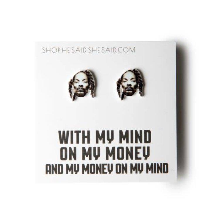 He Said, She Said Snoop Dogg Earrings