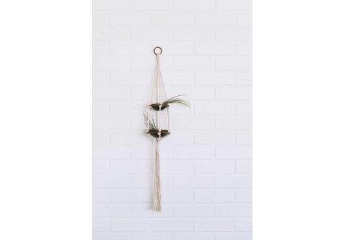Savvie Studio Macrame Plant Hanger - Double
