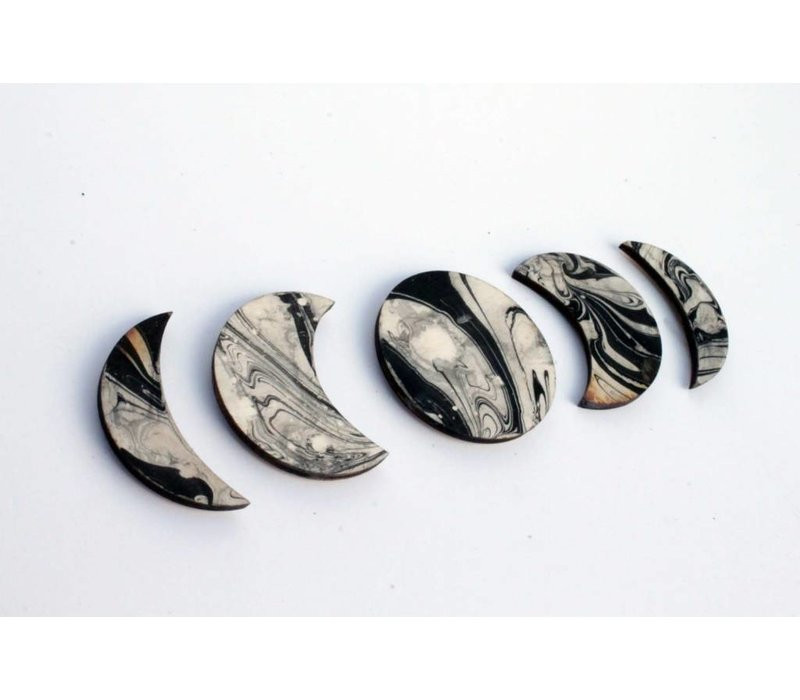 Moon Phase Magnets Set