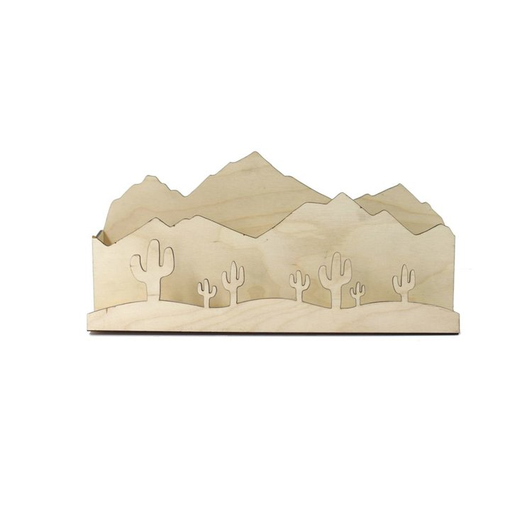 Savvie Studio Desert Landscape Desk Organizer