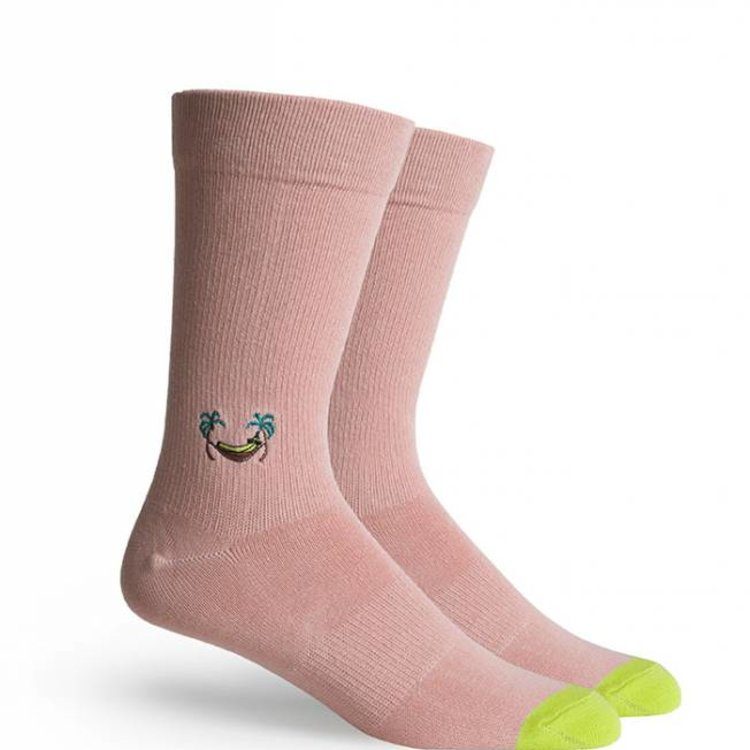 Richer Poorer Banana Crew Socks