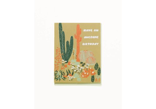Small Adventure Cacti Vignette Birthday Card