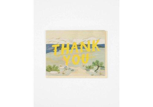 Small Adventure Thank You Tundra Card