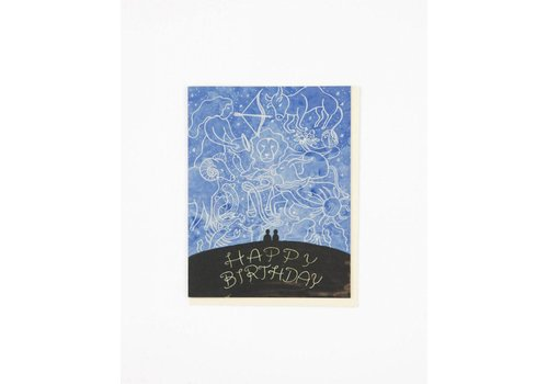 Small Adventure Zodiac Sky Birthday Card