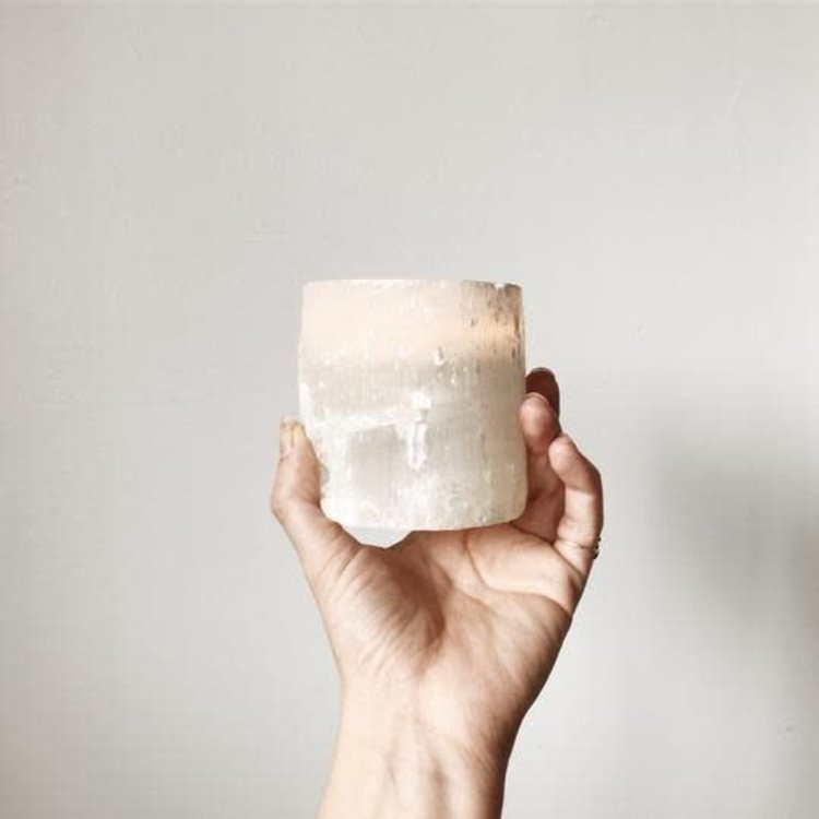 Almanac Supply Co Selenite Candle Holder