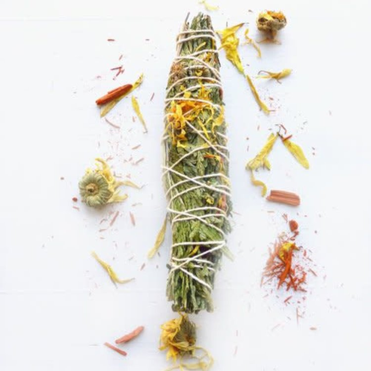 Broad Street Holy Smoke Smudge Stick - Sweetgrass & Sandalwood