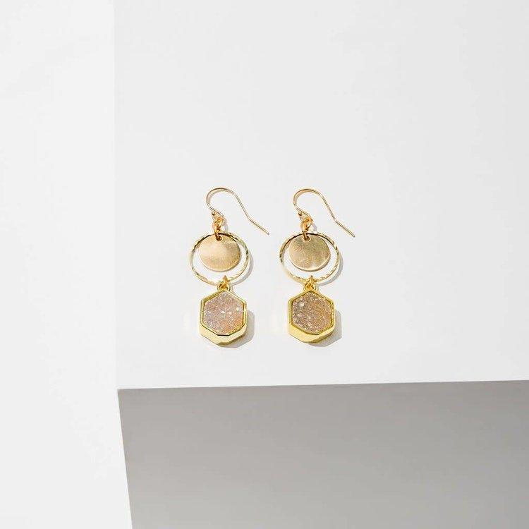 Larissa Loden Sibyl Drusy Earrings