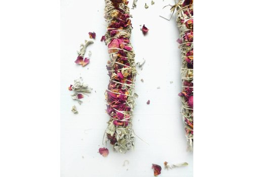 Broad Street Holy Smoke Smudge Stick - Grandmother's Sage & Roses