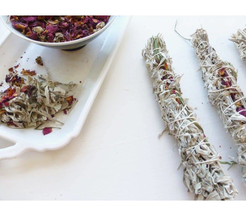 Holy Smoke Smudge Stick - Grandmother's Sage & Roses
