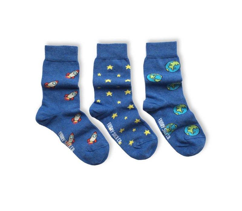 Space Mismatch Kids Socks